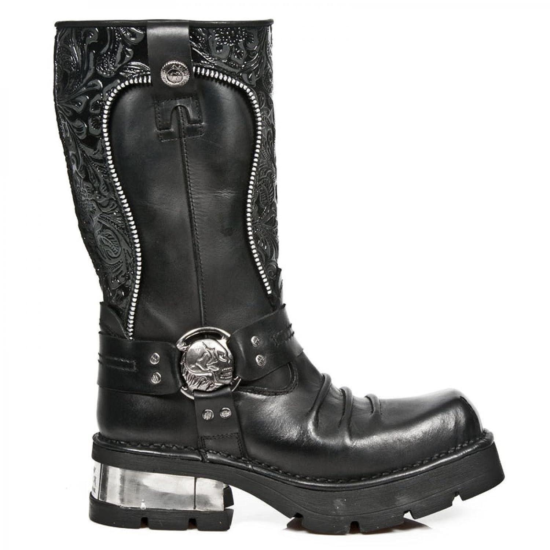 New Rock Boots M.1625 C1 Urban Biker Herren Stiefel Schwarz