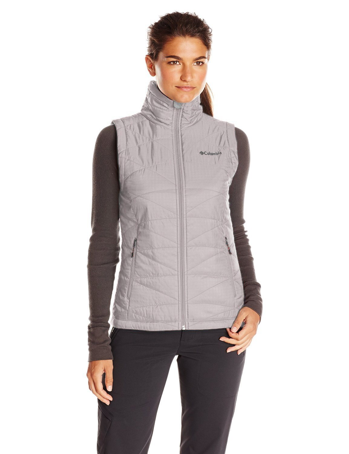 Columbia Womens' Mighty Light III Vest - Light Grey - Large by Columbia