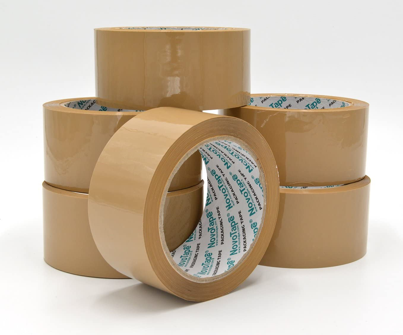 6 Rolls Strong Brown Parcel Packing Packaging Tape Carton Sealing Tapes
