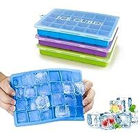 Morfone IJsblokjesvorm, 3 stuks, siliconen ijsblokjesvorm, ijsblokjesvorm, LFGB-gecertificeerd, 24-voudig