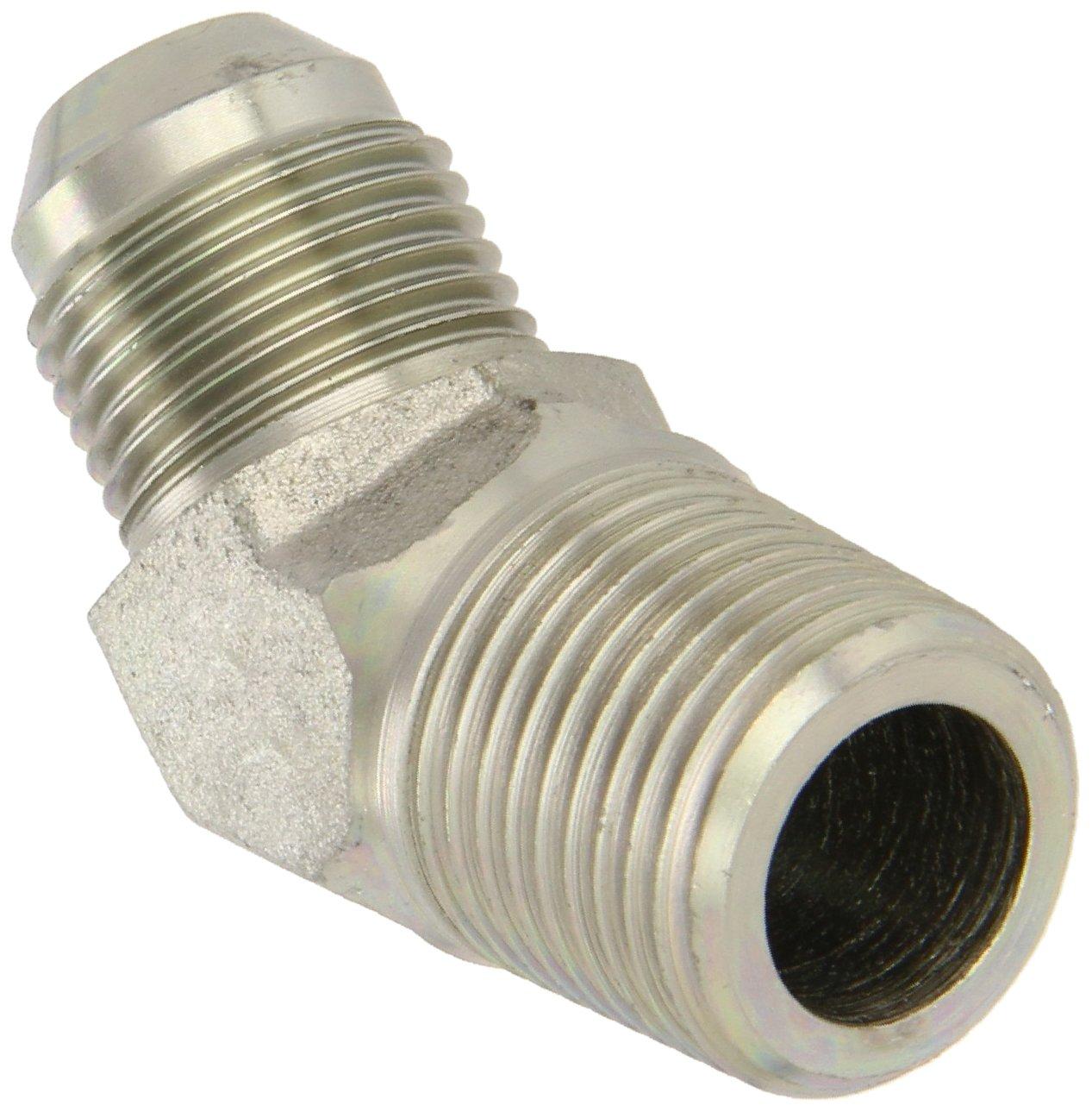 1//2 JIC 1//2 Tube OD End Size x 1//4 NPT m m JIC 37 Degree /& NPT End Types Eaton Aeroquip 2023-4-8S 45 Degree Male Elbow Carbon Steel 1//4 Male Pipe Size