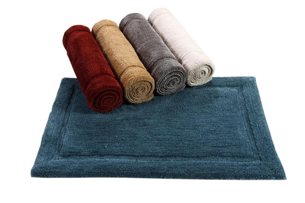 WARISI - Track Collection - Solids microfiber Bathroom, Bedroom Rug, 34 x 21 inches (Marsala) by WARISI (Image #5)
