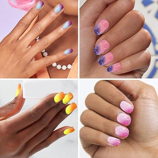 Esmalte de uñas que cambia de color + base de capa superior, Saviland Soak Off Gel esmalte de uñas conjuntos de manicura Kit 10 ml: Amazon.es: Belleza
