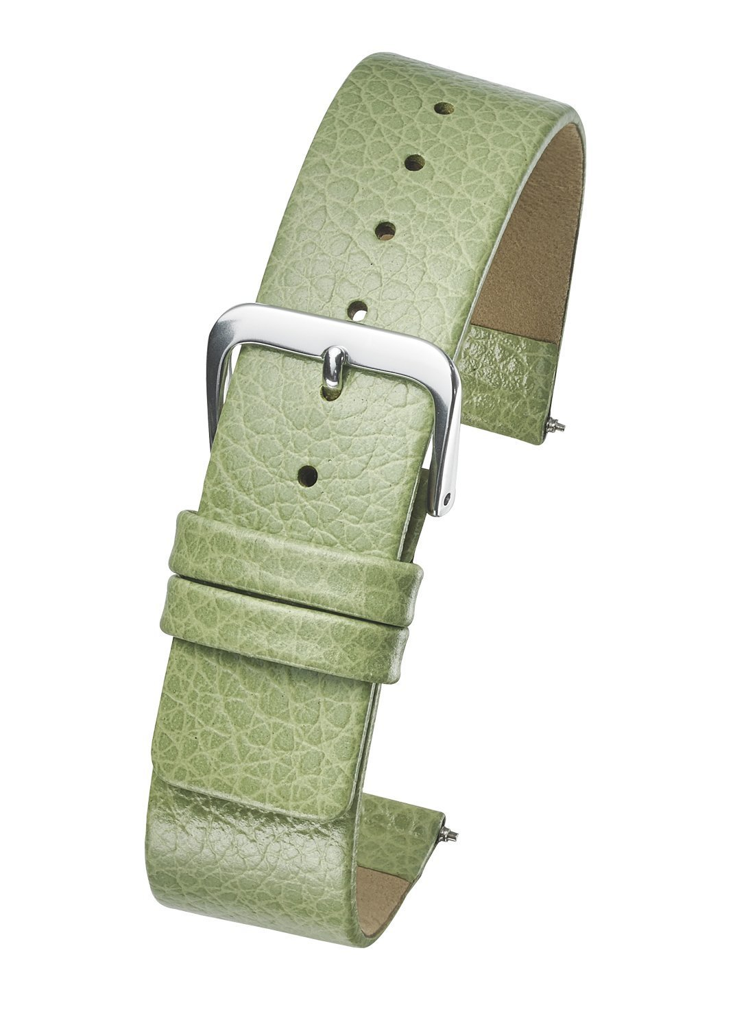 Genuine Leather Watch Band - Smooth Flat Leather Watch Strap 16mm - Green