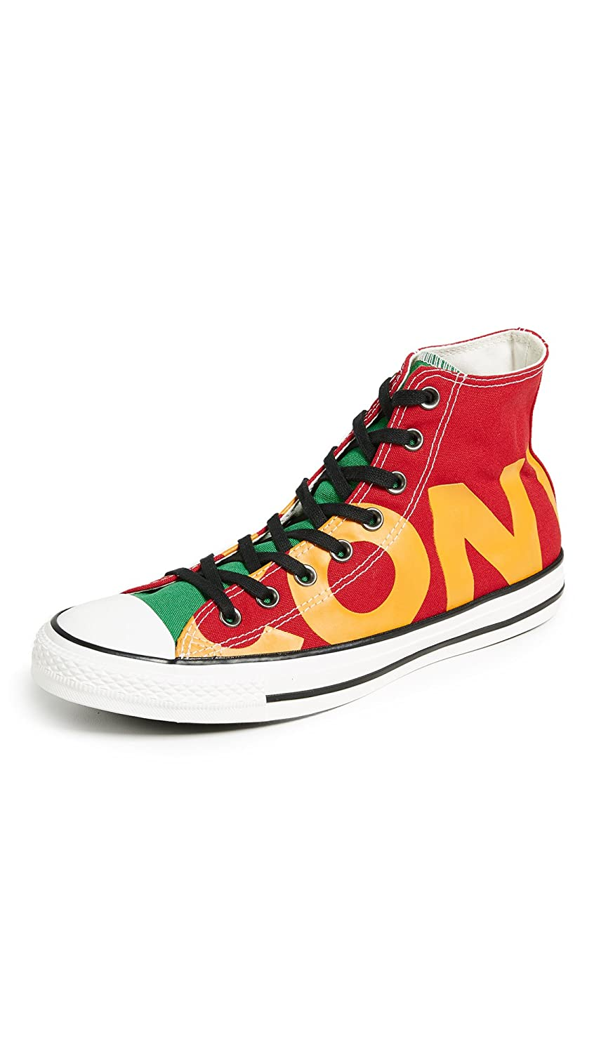 Converse Mens Chuck Taylor All Star Hi Canvas Trainers 39.5 EU|Enamel Red Yellow