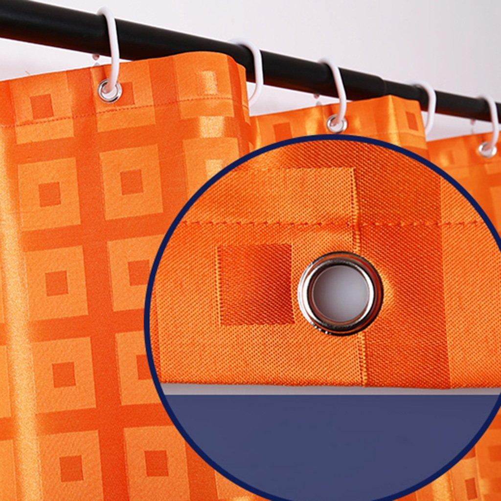 HAIYING Rideau De Bain Jacquard Tissu Rideau Tissu Salle De Bains Salle De Bains /Épaissie Imperm/éable /À leau Moisissure Partition Rideau De Porte Rideau Orange Taille : 100 * 180CM