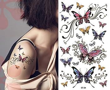 Amazoncom Sexy Lower Back Shoulder Neck Arm Temporary Tattoos