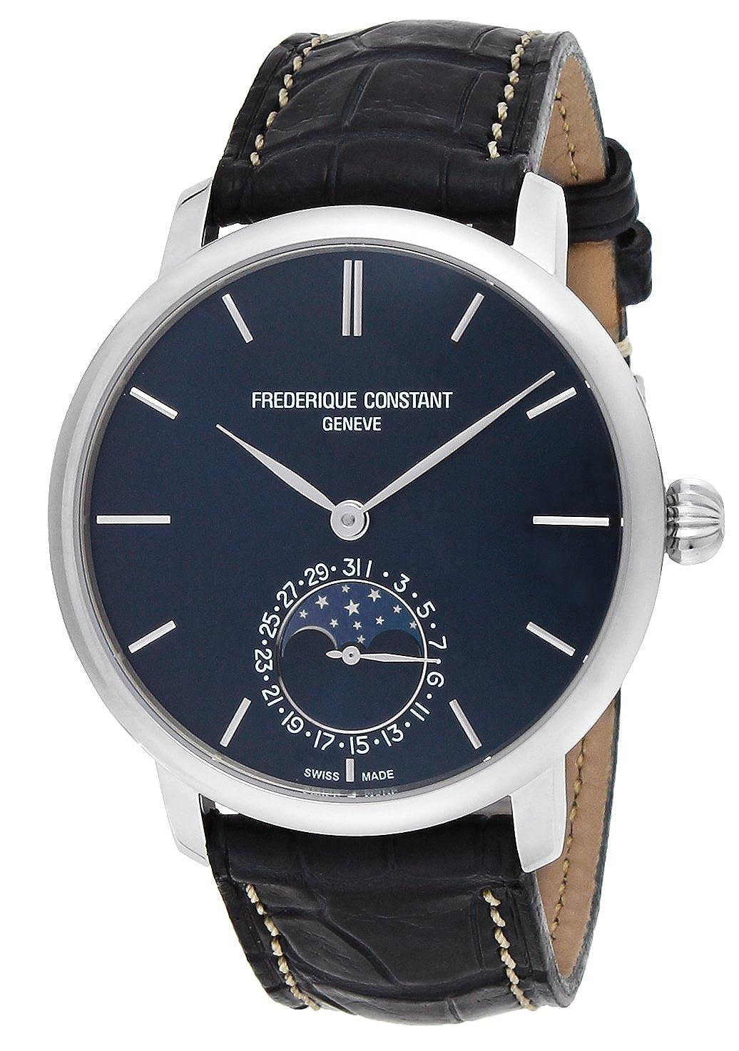 [フレデリックコンスタント]FREDERIQUE CONSTANT 腕時計 スリムラインネイビー文字盤 ムーンフェイズ 705N4S6 メンズ 【並行輸入品】 B072TGY154
