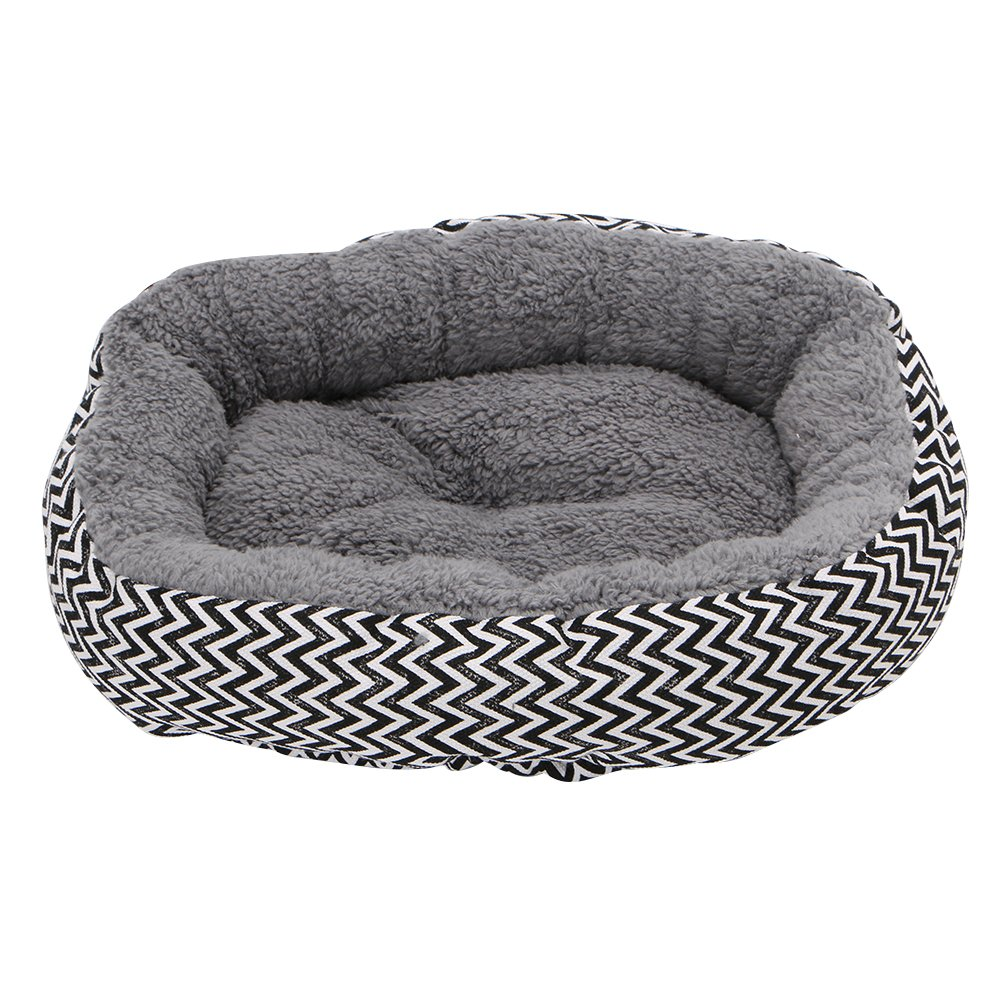 Delight eShop Soft Round Pet House Bed Warm Dog Cat Puppy Kennel Cushion Striped Pad 2 Color