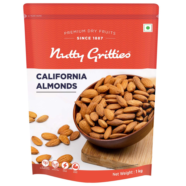 Nutty Gritties California Almonds Badam – 1Kg