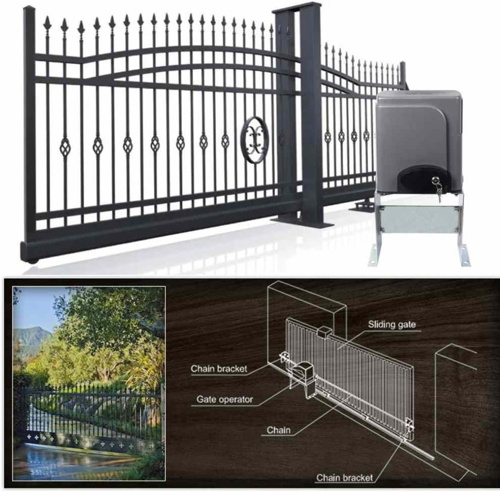 oldriver Longitud 12.2 m Capacidad 635 kg Sliding Gate abrebotellas para puertas correderas Sliding Gate Opener hardware automático con 2 piezas inalámbrico mando a distancia para puertas correderas: Amazon.es: Bricolaje y herramientas