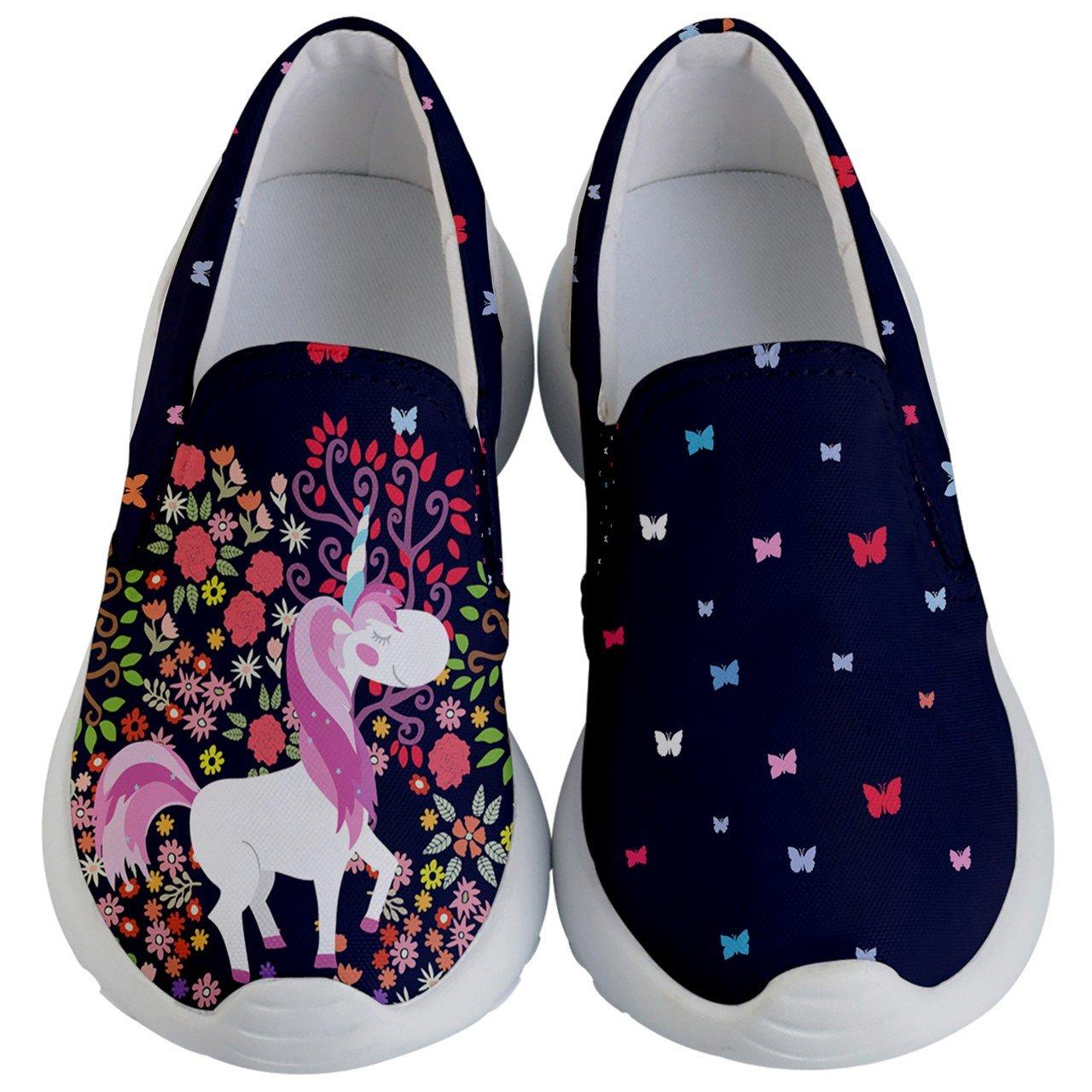 1945a5c8750e3 PattyCandy Woodland Unicorns & Forest Kids Lightweight Slip Ons - US ...