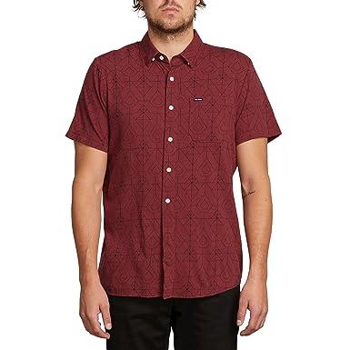 3a305660bcc6 Amazon.com: Volcom Men's Geo Print Short Sleeve Woven Button Up Shirt:  Clothing