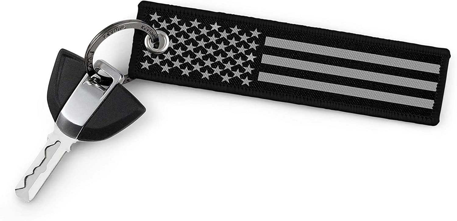 Premium Quality USA Flag Key Tag for Auto Gift Backpacks KEYTAILS Keychains Motorcycle