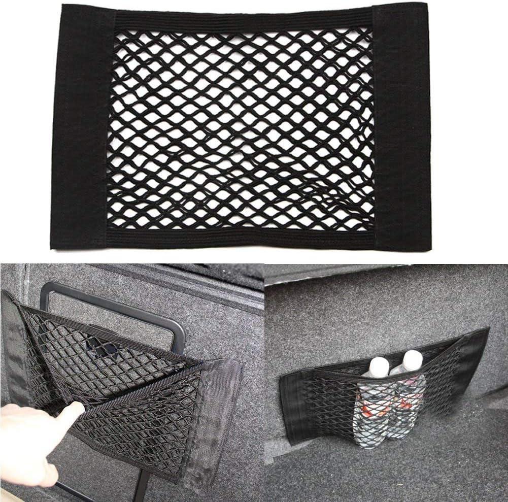 Vektenxi //Cage de poche arri/ère de coffre de voiture sac de rangement de filet de maille de ficelle /élastique de si/ège pratique et populaire
