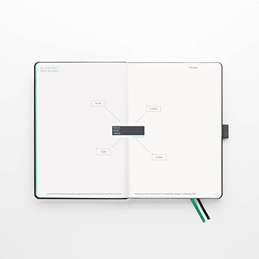 KLARHEIT ® (en inglés) | Life Coach + Calendar | The A5-organizer for more structure and focus in your everyday life | Notebook with calendar, weekly ...