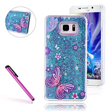 new styles e9e06 7c5df S7 Edge Cover Samsung Galaxy S7 Edge Cover for Girls EMAXELER 3D Creative  Design Angel Girl Flowing Liquid Floating Bling Shiny Liquid PC Hard Cover  ...