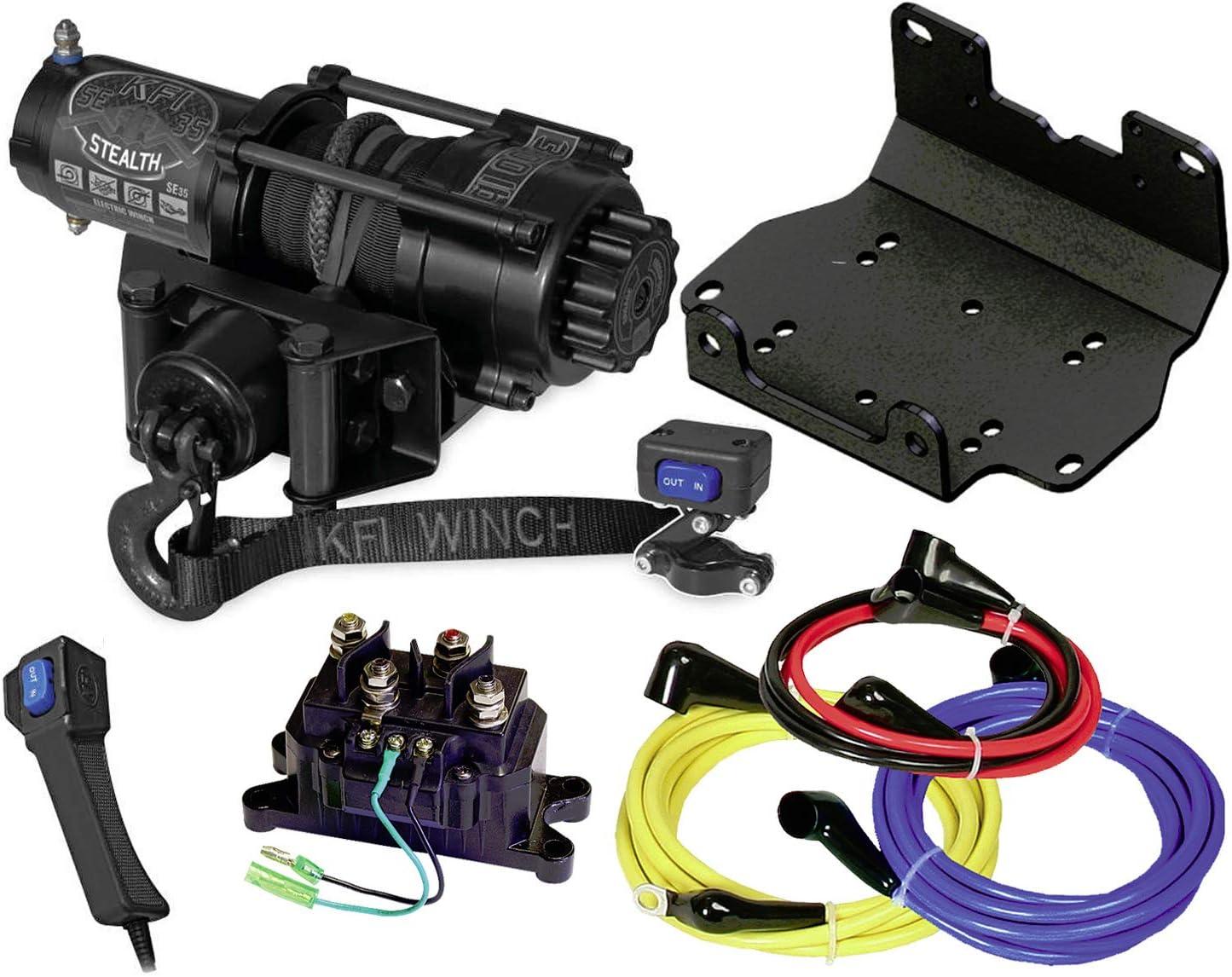 KFI 3000 LB Steel Cable Winch and Mount Kit Yamaha Grizzly Kodiak 700 2016-2020