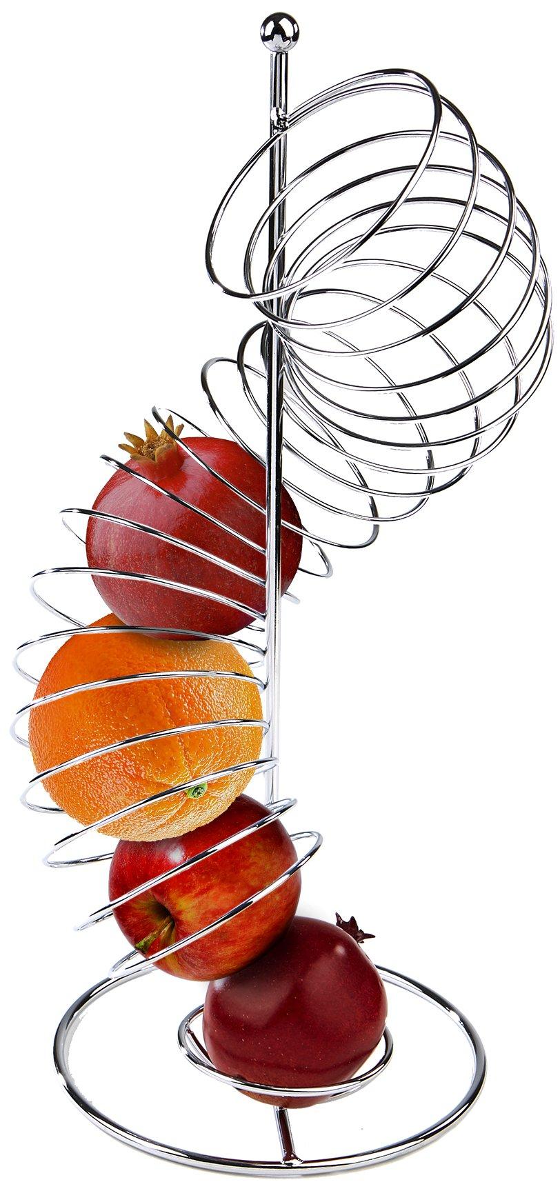 Mind Reader Spiral Fruit Basket, Stainless Steel
