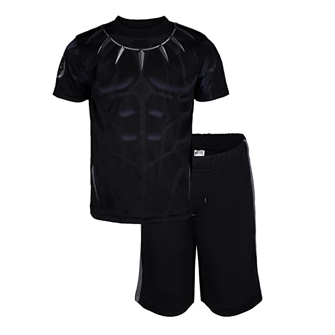 375d18ac Marvel Avengers Black Panther Toddler Boys' Athletic T-Shirt & Mesh Shorts  Set,