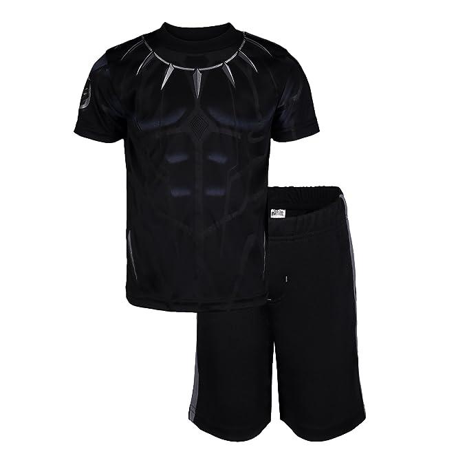 a5f78261 Marvel Avengers Black Panther Toddler Boys' Athletic T-Shirt & Mesh Shorts  Set,