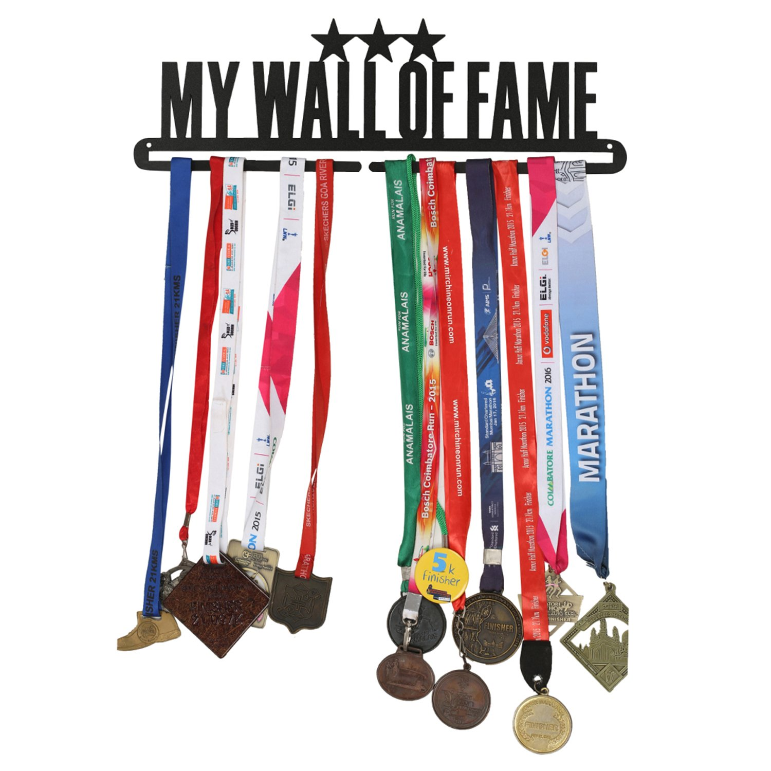 RUNWYND Wall of Fame 3 Stars Metal Medal Hanger - Black (B01MR2CSDY) Amazon Price History, Amazon Price Tracker