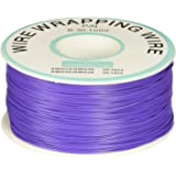 Purple PVC Coated Tin Plated Copper Wire Wire-Wrapping 30AWG Cable 305M