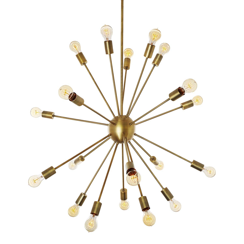 20 light brass sputnik hanging pendant large chandelier fixture 20 light brass sputnik hanging pendant large chandelier fixture dimmable etl listed amazon arubaitofo Gallery