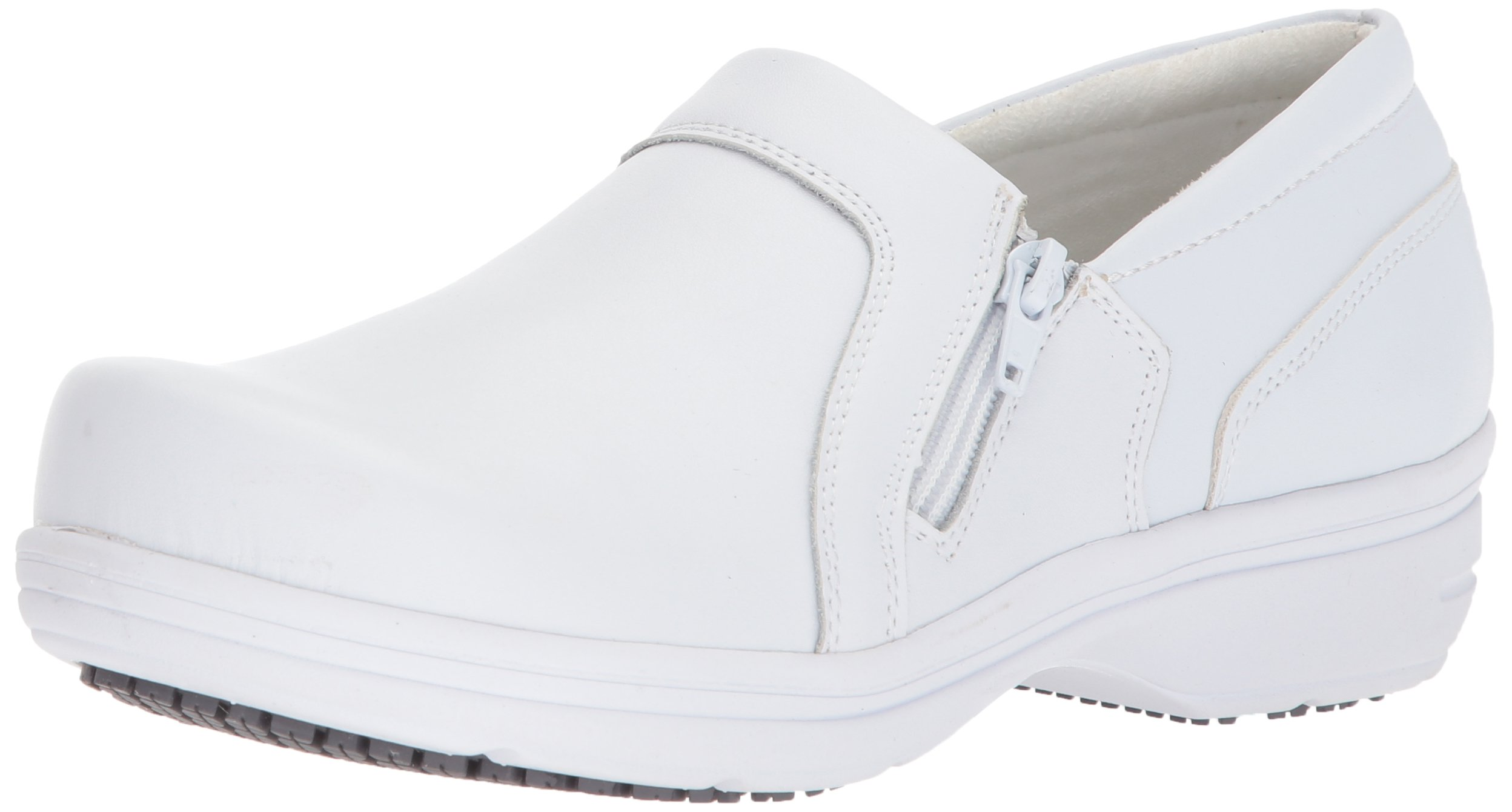 Easy Works Women's Bentley Health Care Professional Shoe, White, 8.5 M US