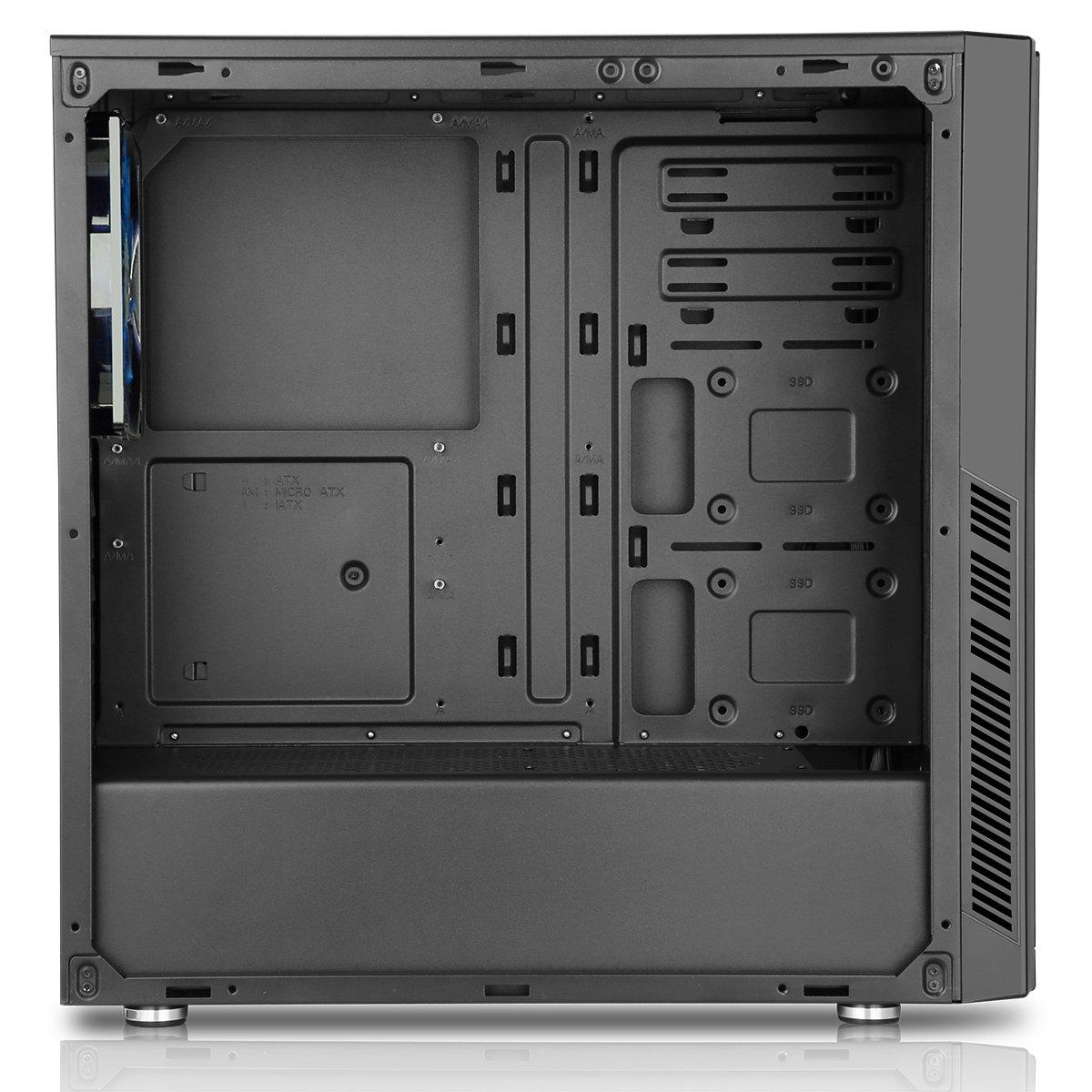 Amazon com: CiT Dark Star Midi Case with 1 x12 cm Blue 4 LED