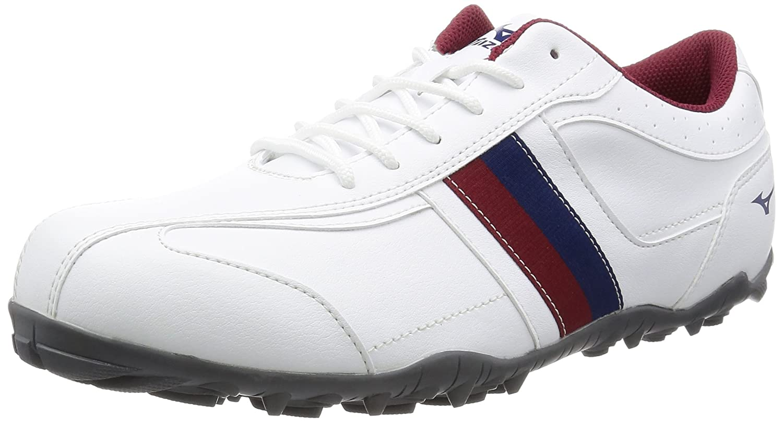 [ミズノ ゴルフ] MIZUNO GOLF ゴルフシューズ ティーゾイド スパイクレス B01FGWJKFC 27.0 cm 4E ホワイト/ワインレッド