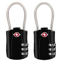 TSA Luggage Locks, [2018 Newest Version][2 Packs]Diyife 3-Digit Security Padlock, Combination Padlocks, Code Lock for Travel Suitcases Luggage Bag Case etc.(Black)