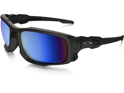 3cfbefadfdeba4 Image Unavailable. Image not available for. Color  Oakley SI Shocktube  Satin Black Prizm Deep Water Polarized Sunglasses ...