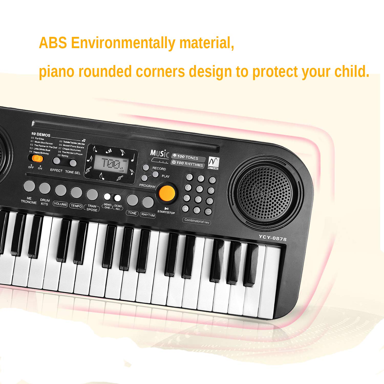 Amazon Twfric Kids Piano Keyboard 37 Key Lcd Screen Display