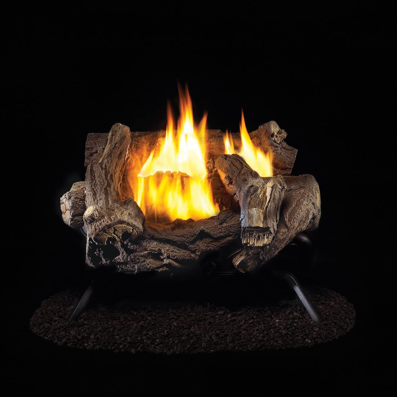 ProCom Split Hickory Ventless Gas Logs Manual Control 18 inch Propane Only