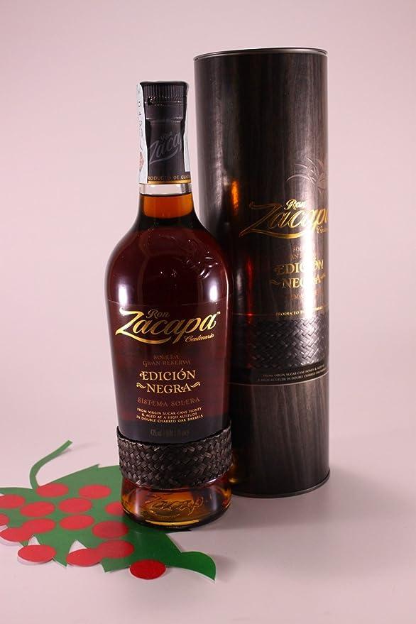 Rum Zacapa Edicion Negra Solera Gran Reserva 43 % 70 cl. - Ron Zacapa Centena...