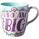 Enesco Our Name is Mud Dream Big Oversized Coffee Mug, 28 Ounce, Multicolor