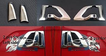 Embellecedores para mango de puertas, diseño de efecto espejo, fabricados con acero inoxidable,