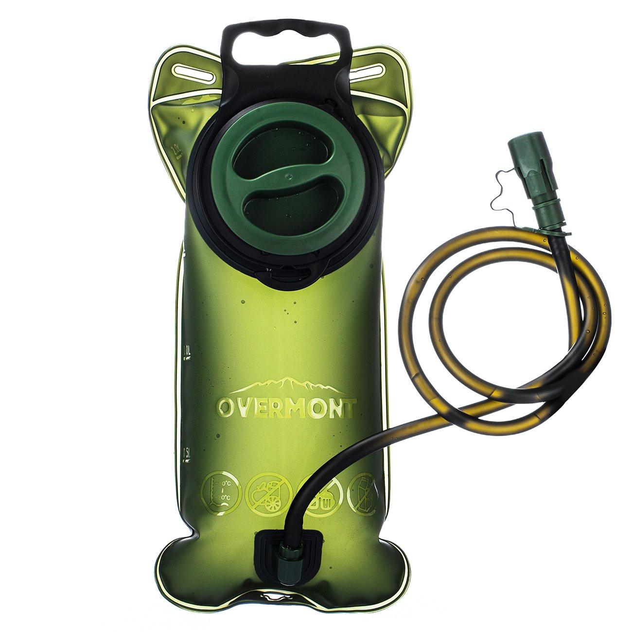 Overmont Vejiga de Agua para Camping Mochila al Aire Libre Bolso de Agua de TPU 2L Verde
