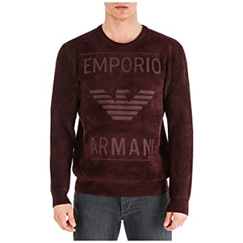 Emporio Armani Sudadera Hombre Rosso Vinaccia L: Amazon.es: Ropa y accesorios