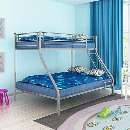 Letto A Castello Bambini Design.Weilandeal Letto A Castello Per Bambini 200x140 200x90 Cm Metallo