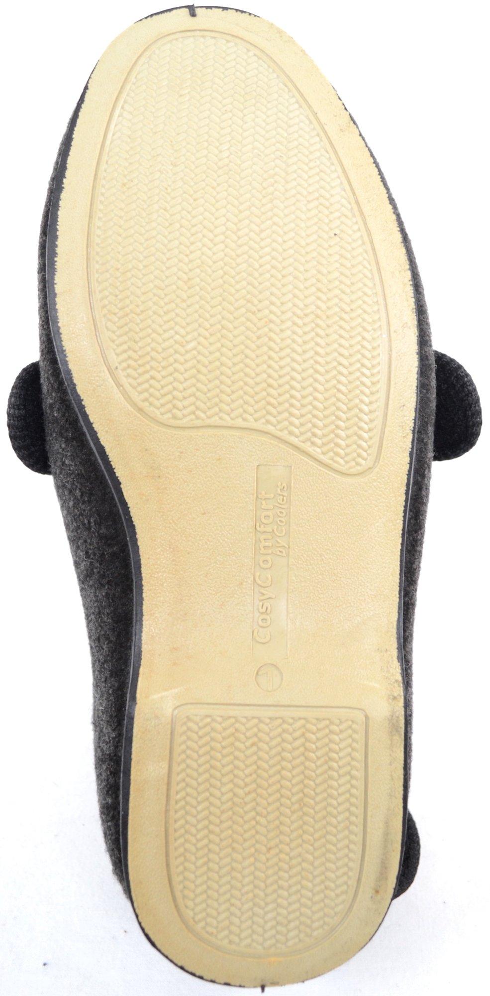 ABSOLUTE FOOTWEAR Mens Orthopaedic/Extra Wide Fit Adjustable Slipper Boot/Slippers - Grey - 10 US by ABSOLUTE FOOTWEAR (Image #7)