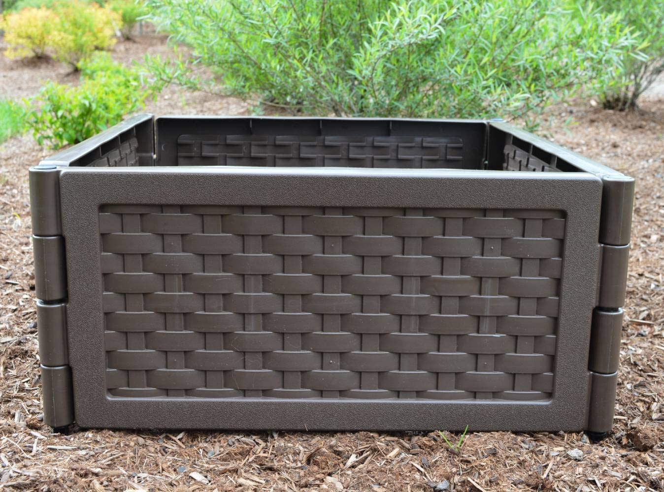 Zenport F-580 Modular Raised Garden Bed, Brown