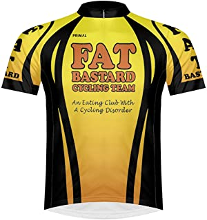 Primal Wear Fat Bastard Cycling Team Yellow Orange Black Cycling Jersey  Men s Short Sleeve 78c3b6d6c