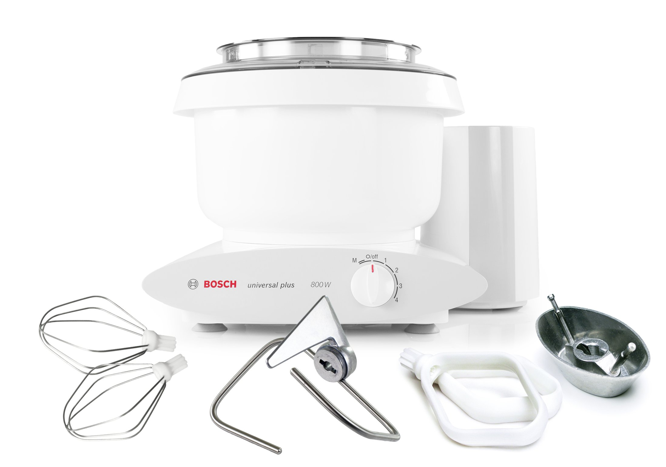 Bosch MUM6N10UC Universal Plus Stand Mixer, 800 Watt, 6.5-Quarts with Bowl Scraper and Cake Paddles by Bosch