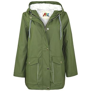 af2474aafd01 Amazon.com  Kids Girls Boys PU Raincoats Jackets Hooded Waterproof ...
