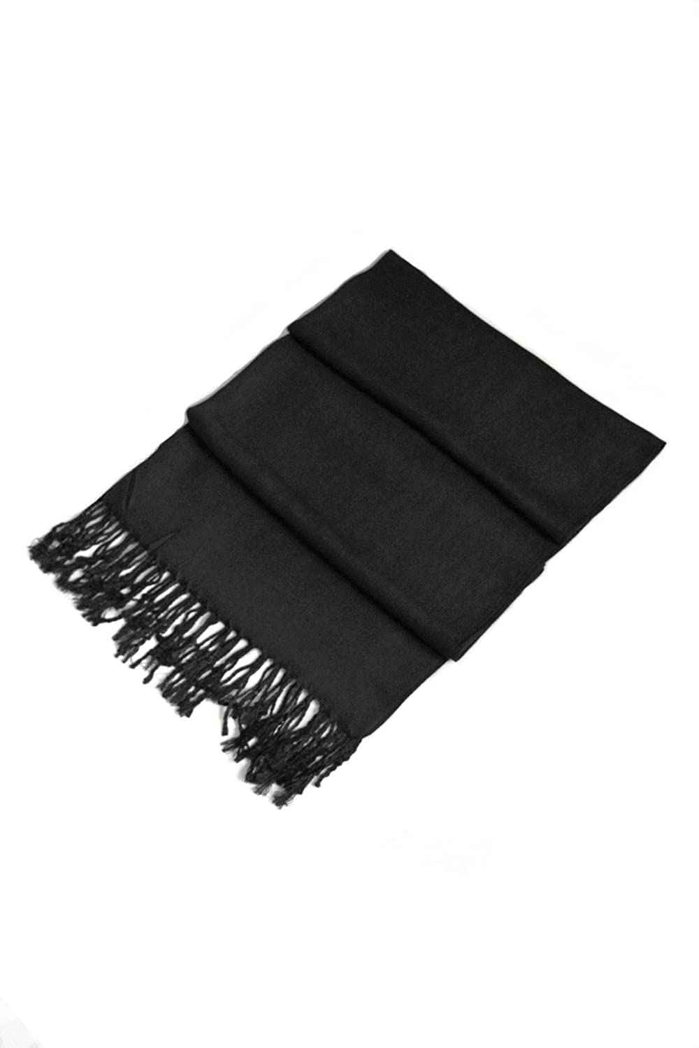 Sakkas 78 X 28 Rayon From Bamboo Soft Solid Pashmina Feel Shawl Kerudung Pk2 23 Wrap Stole Black At Amazon Womens Clothing Store
