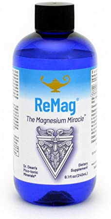 RnA ReSet - ReMag High Absorption Magnesium Liquid, Experience The Magnesium Miracle, Magnesium Chloride - by Dr. Carolyn Dean, 8.1 Fl Oz (1-Pack)