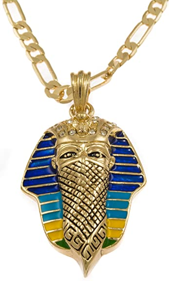 Amazon hip hop iced gold tone gangster king tut pharaoh pendant hip hop iced gold tone gangster king tut pharaoh pendant necklace free 24quot aloadofball Gallery