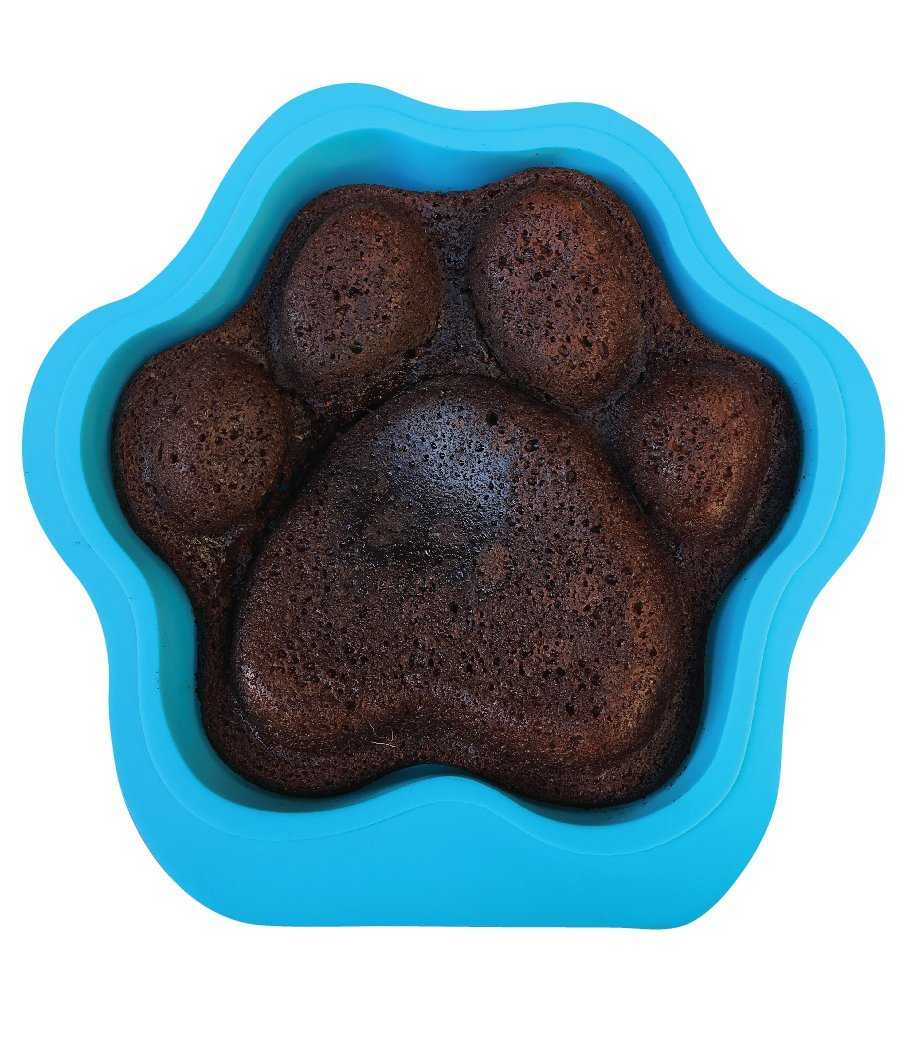 Puppy Paws and Bones Large Paw Edition Silicone Dog Paw Shape Cake Pan 12X11X2.5 Inches by Win&Co